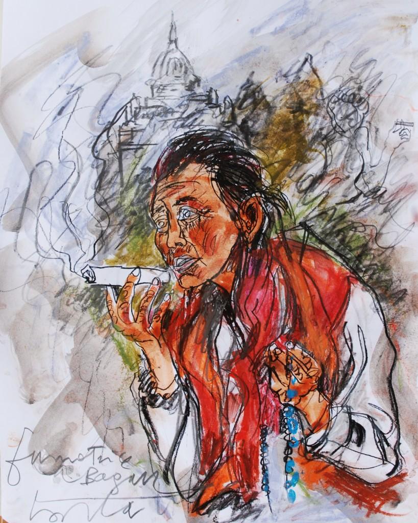 Fumatrice a Bagan
